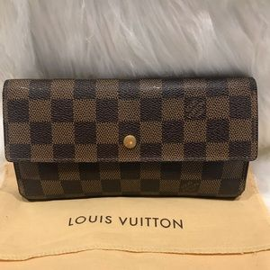 Louis Vuitton Damier Ebene Sarah Wallet #4.1M